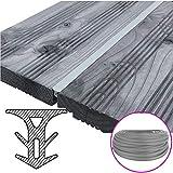 SunDeluxe Fugendichtband für Terrassendielen - Terrassenfugenband Made in Germany - Bodenfüllprofil/Fugendichtung für alle Terrassensysteme WPC Holz Stein, Farbe:Grau, Größe:Breite 5-7.5 mm / 25 m