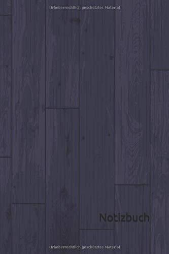 Notizbuch: Holz Notizbuch | 6x9 Zoll DIN...