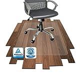 Floordirekt PRO - 16 Größen zur Wahl - Polycarbonat Bodenschutzmatte transparent mit TÜV für Hartböden (100x120 cm)