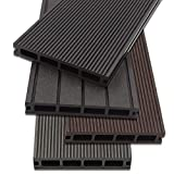 Home Deluxe - WPC Terrassendiele Hellgrau - Inkl. Unterkonstruktion und Montagematerial (20 m²)   Terrassenboden Poolumrandung Balkonbelag