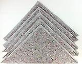 Wischtücher Baumwolle Küche grau Boden Fliesen Kacheln PVC Holz Dielen Parkett Scheuertuch Bodentuch groß 50x50 Bodenwischtuch Bodenwischtücher Scheuerlappen Fußboden Bad Flur (5, Mischfaser)